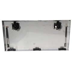 Porte de coffre inox seule  800 x 500
