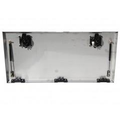 Porte de coffre inox seule  1000 x 500