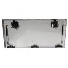 Porte de coffre inox seule  1000 x 400