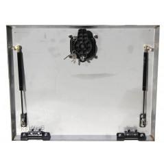 Porte de coffre inox seule  600 x 500