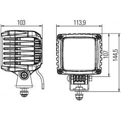 Projecteur de travail à Led POWER BEAM 3000 12/24V