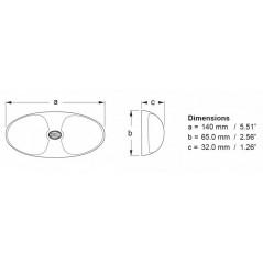 Eclaireur de coffre à Led blanc 12/24V